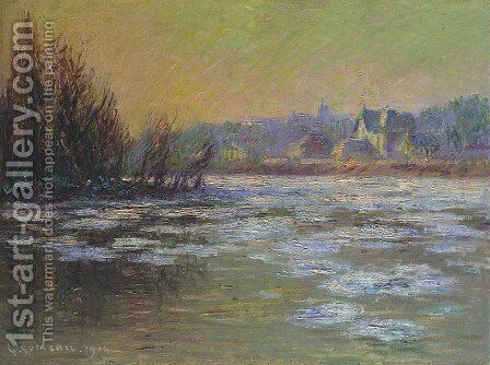 Ice on the Oise River 2 by Gustave Loiseau - Reproduction Oil Painting