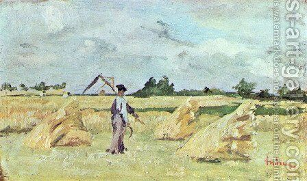 Haymaking by Ion Andreescu - Reproduction Oil Painting