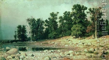 Coast of Oak grove of Peter the Great in Sestroretsk by Ivan Shishkin - Reproduction Oil Painting