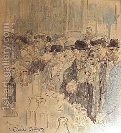 Paysage D'Alcool by Theophile Alexandre Steinlen - Reproduction Oil Painting