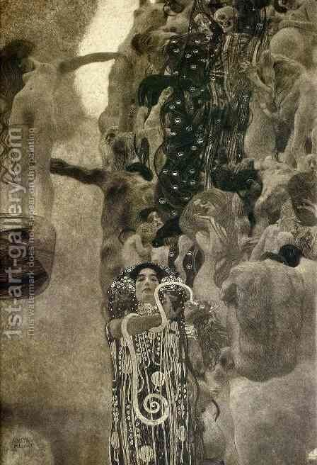 University of Vienna Ceiling Paintings (Medicine), final state by Gustav Klimt - Reproduction Oil Painting