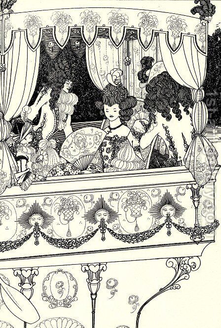 The Barge by Aubrey Vincent Beardsley - Reproduction Oil Painting