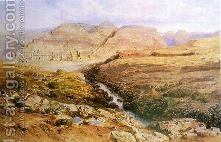 Petra by Edward Lear - Reproduction Oil Painting