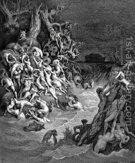 World Destroyed by Water by Gustave Dore - Reproduction Oil Painting