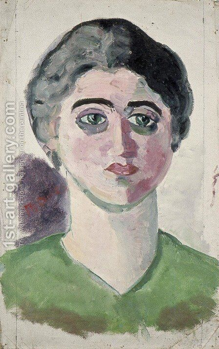 Portrait of Lena Milius by Theo van Doesburg - Reproduction Oil Painting