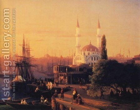 Constantinople by Ivan Konstantinovich Aivazovsky - Reproduction Oil Painting