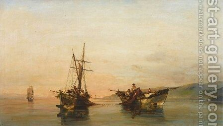 On calm waters 2 by Constantinos Volanakis - Reproduction Oil Painting