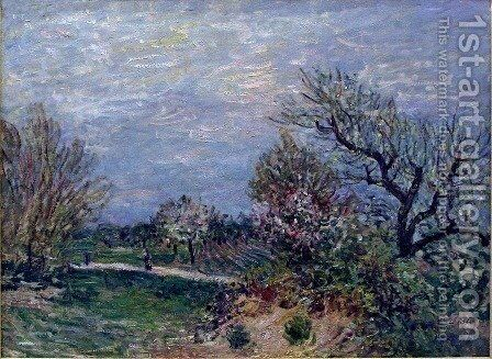 Border of the Woods by Alfred Sisley - Reproduction Oil Painting