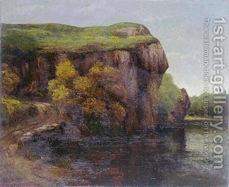 The Cliff by Gustave Courbet - Reproduction Oil Painting