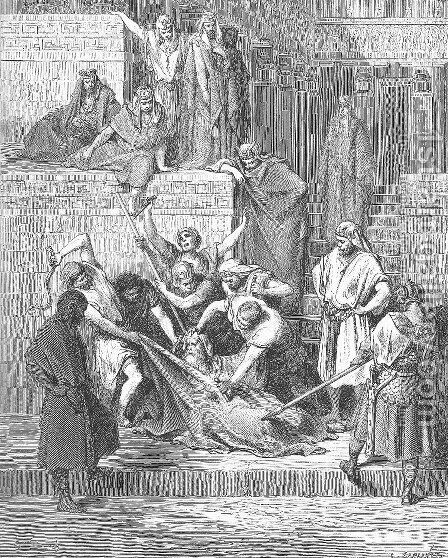 The Martyrdom of Eleazar the Scribe by Gustave Dore - Reproduction Oil Painting