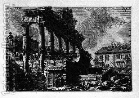 The Roman antiquities, t. 1, Plate XXXII by Giovanni Battista Piranesi - Reproduction Oil Painting