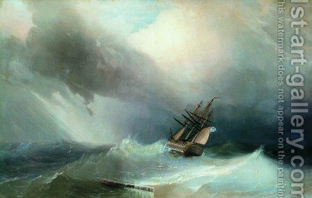 The Tempest by Ivan Konstantinovich Aivazovsky - Reproduction Oil Painting