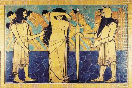 Wall decoration for Beurs van Berlage Cafe by Jan Toorop - Reproduction Oil Painting