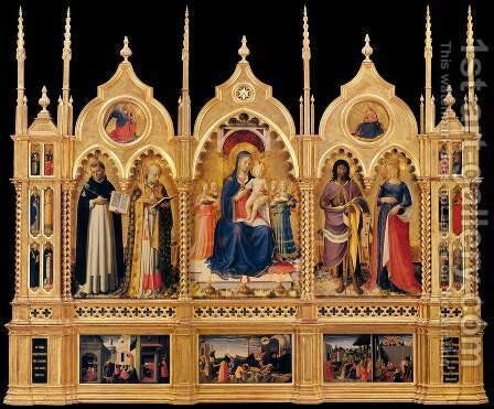 Perugia Altarpiece 3 by Angelico Fra - Reproduction Oil Painting