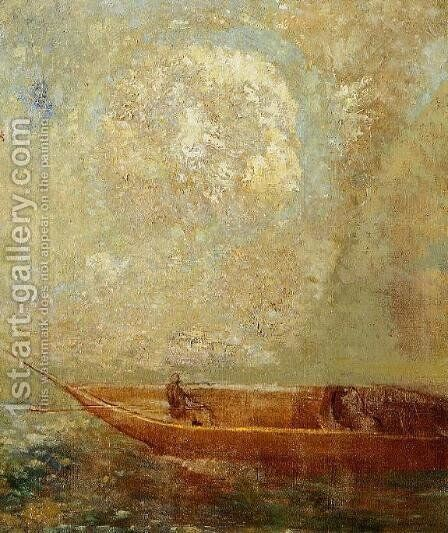 A boat by Odilon Redon - Reproduction Oil Painting