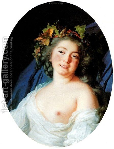 Bacchante 2 by Elisabeth Vigee-Lebrun - Reproduction Oil Painting