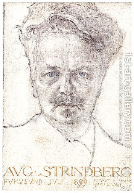 August Strindberg by Carl Larsson - Reproduction Oil Painting