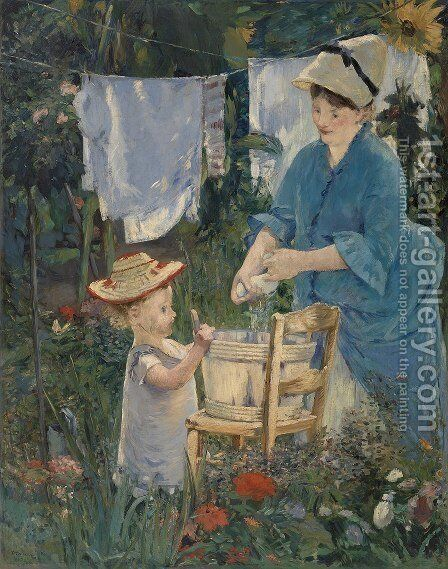 The laundry by Edouard Manet - Reproduction Oil Painting