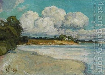 On the Lake Shore Near Bronte by James Edward Hervey MacDonald - Reproduction Oil Painting