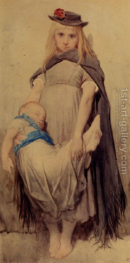 Young Beggar by Gustave Dore - Reproduction Oil Painting