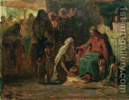 Blessing Children by Ilya Efimovich Efimovich Repin - Reproduction Oil Painting
