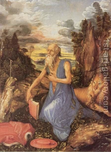 Penitent Jerome by Albrecht Durer - Reproduction Oil Painting