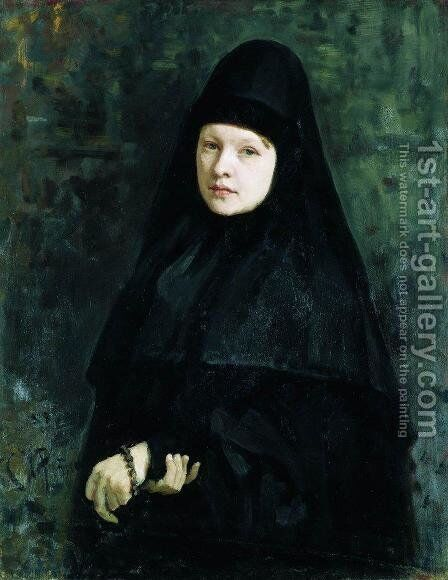 Nun by Ilya Efimovich Efimovich Repin - Reproduction Oil Painting