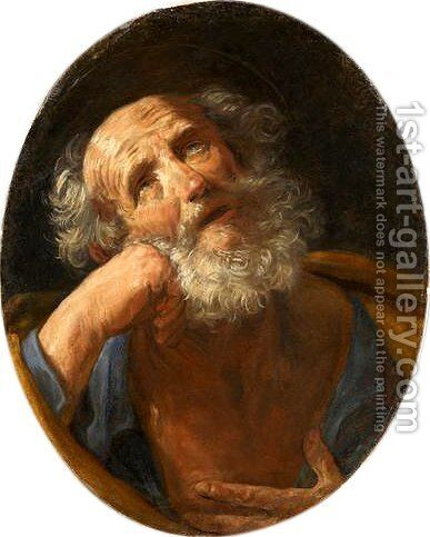 Repentant Peter by Guido Reni - Reproduction Oil Painting
