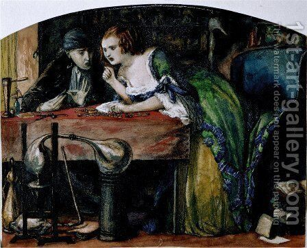 The Laboratory by Dante Gabriel Rossetti - Reproduction Oil Painting