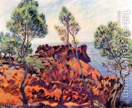 Agay, les Roches Rouges by Armand Guillaumin - Reproduction Oil Painting