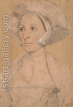 Portrait of an Englishwoman by Hans, the Younger Holbein - Reproduction Oil Painting