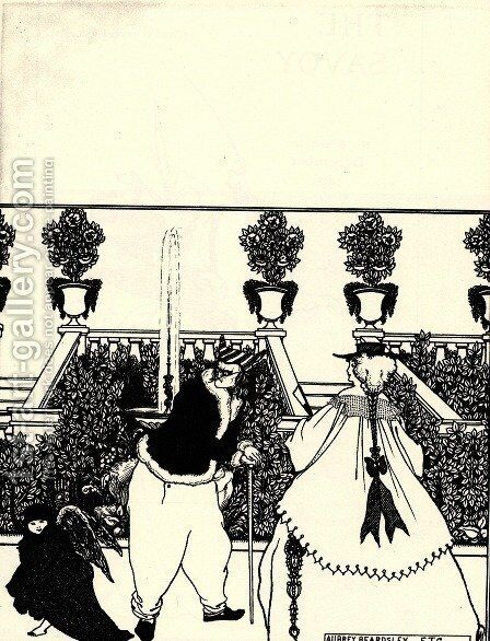 No. 3 by Aubrey Vincent Beardsley - Reproduction Oil Painting