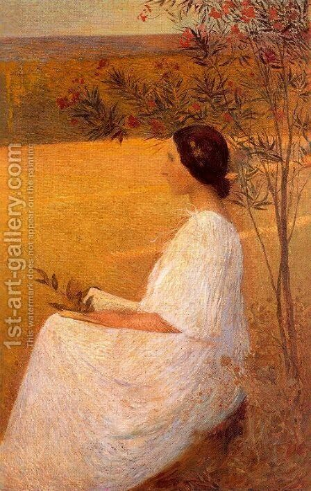 Muse by Henri Martin - Reproduction Oil Painting