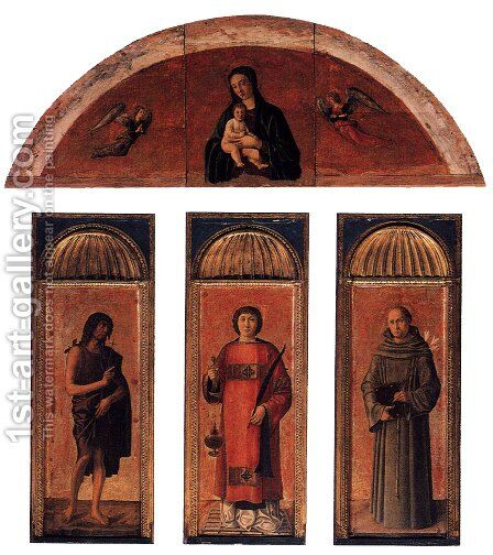 Triptych of St Lawrence by Giovanni Bellini - Reproduction Oil Painting