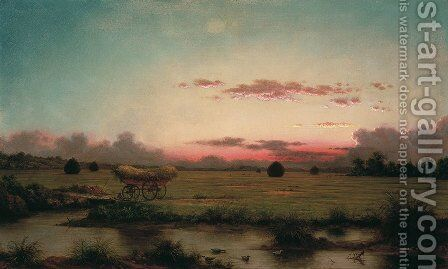 The Marshes at Rhode Island by Martin Johnson Heade - Reproduction Oil Painting