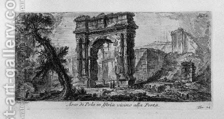 Arch of Augustus, manufactured by Rimini by Giovanni Battista Piranesi - Reproduction Oil Painting