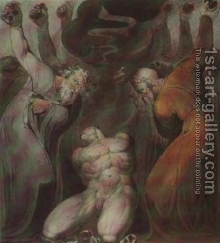 Blasphemer by William Blake - Reproduction Oil Painting