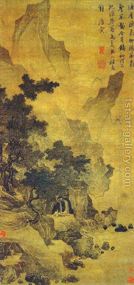 Watching the Spring and Listening to the Wind by Tang Yin - Reproduction Oil Painting