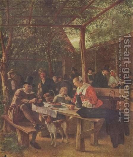 Pub garden by Jan Steen - Reproduction Oil Painting