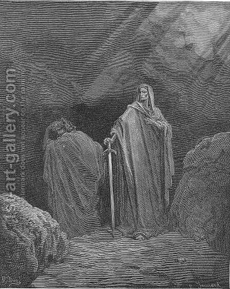This said, they both betook them several ways by Gustave Dore - Reproduction Oil Painting