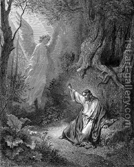 The Agony In The Garden 2 by Gustave Dore - Reproduction Oil Painting