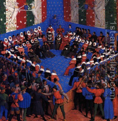 Cases of noble men and women by Jean Fouquet - Reproduction Oil Painting