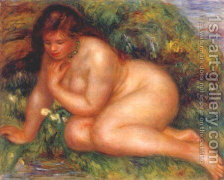 Bather Admiring Herself in the Water by Pierre Auguste Renoir - Reproduction Oil Painting