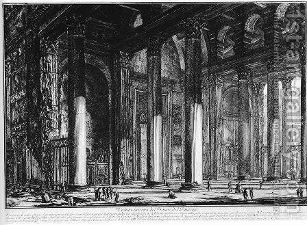 Vedute di Roma 48 by Giovanni Battista Piranesi - Reproduction Oil Painting