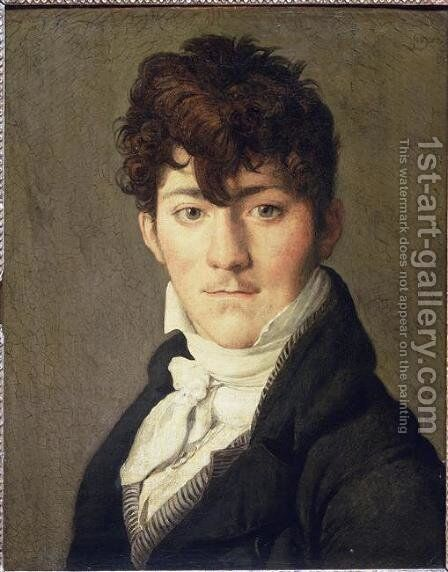 Portrait of Auguste Francois Talma, Ensign, nephew of the tragedian Talma by Jean Auguste Dominique Ingres - Reproduction Oil Painting