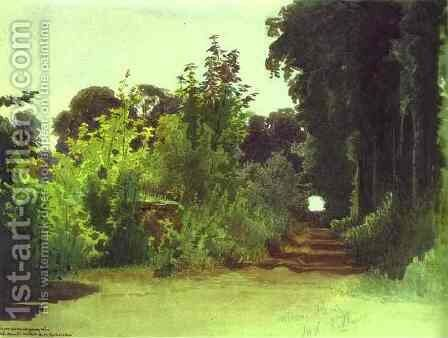 In the Grove of Medon near Paris by Ivan Nikolaevich Kramskoy - Reproduction Oil Painting