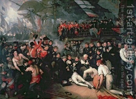 The Death of Nelson, 21st October 1805 by Benjamin West - Reproduction Oil Painting
