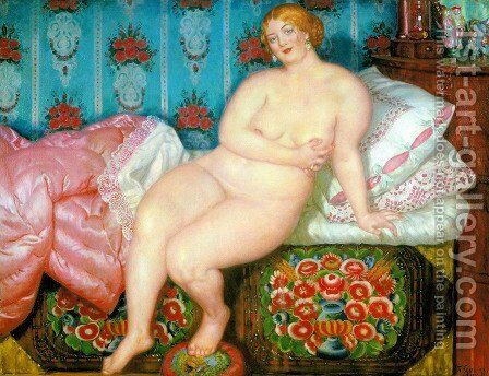 Beauty 2 by Boris Kustodiev - Reproduction Oil Painting