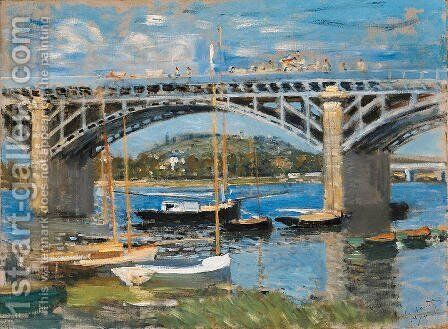 The Bridge over the Seine by Claude Oscar Monet - Reproduction Oil Painting
