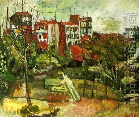 Suburban Landscape with Red Houses by Chaim Soutine - Reproduction Oil Painting